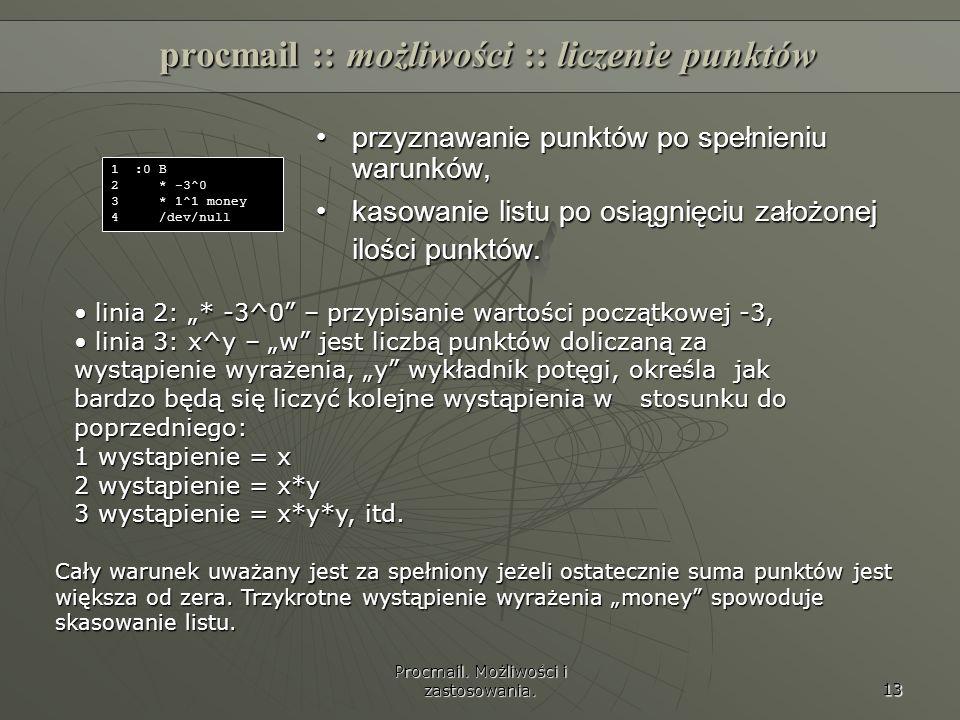 procmail :: możliwości :: liczenie punktów