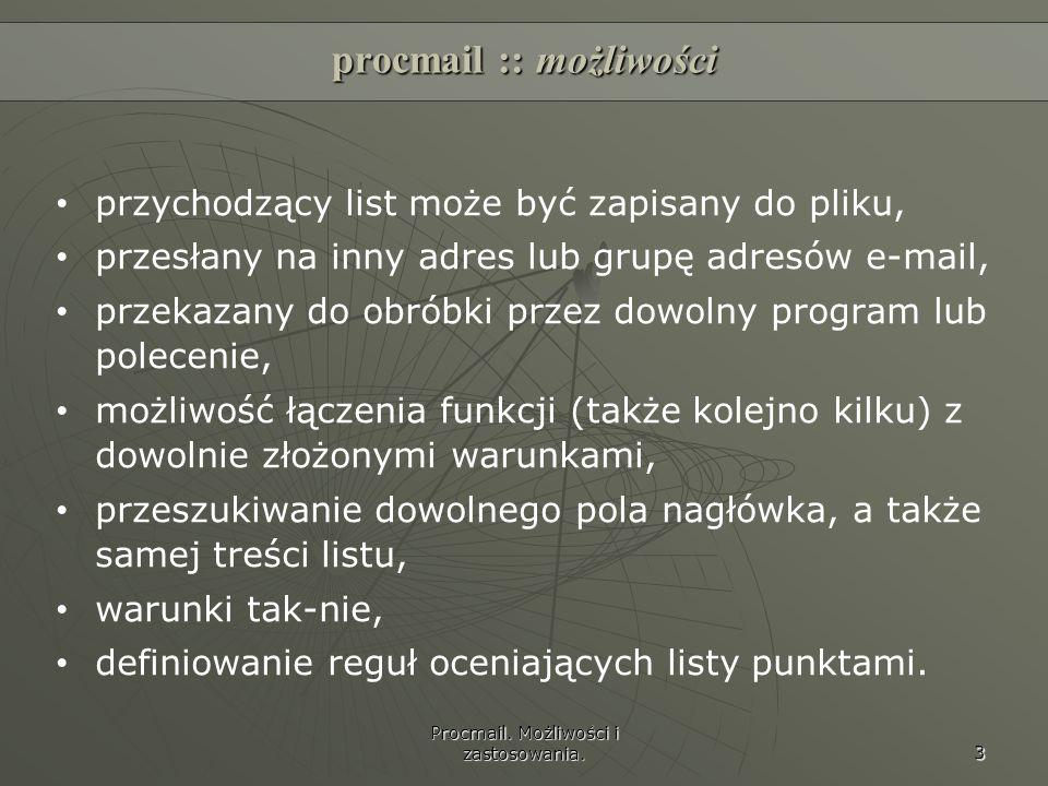 procmail :: możliwości