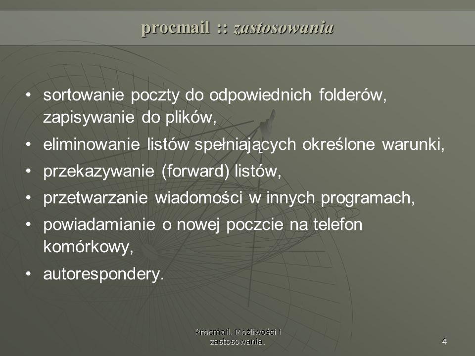procmail :: zastosowania