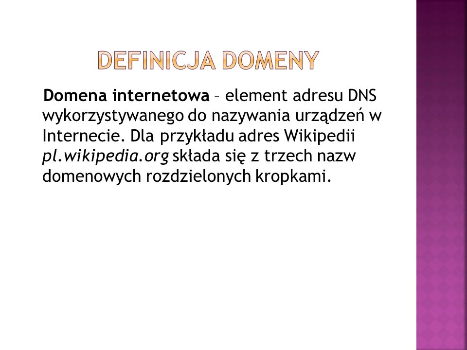 Definicja domeny