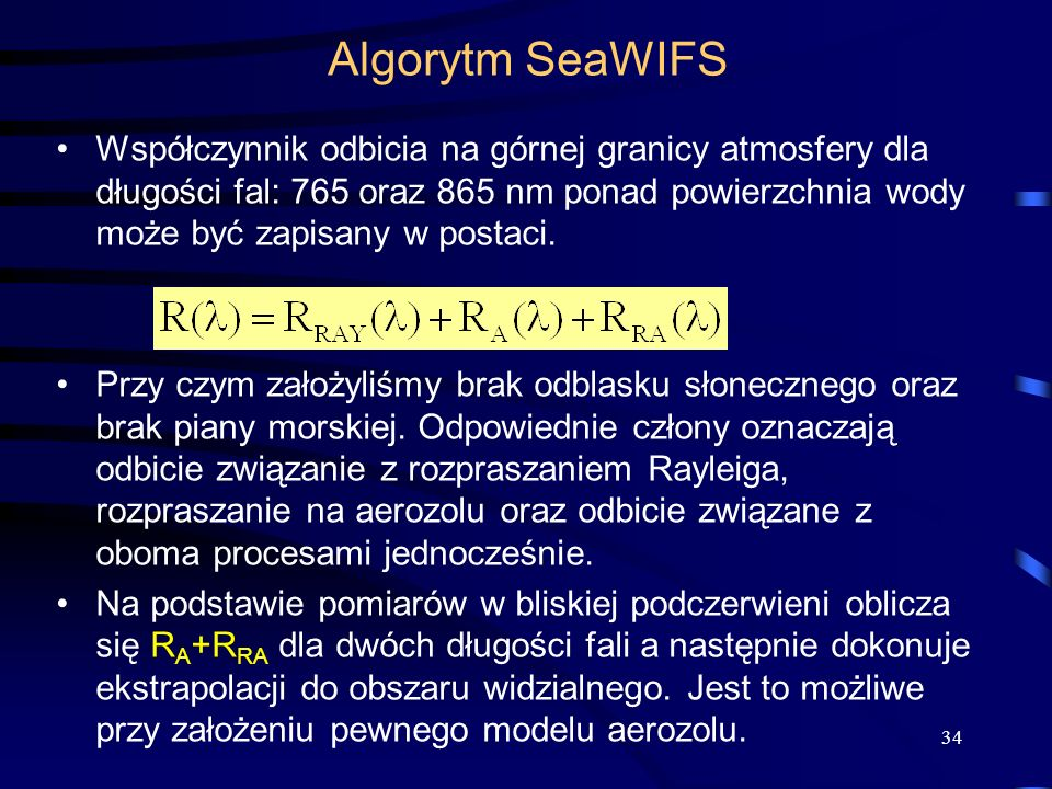 Algorytm SeaWIFS