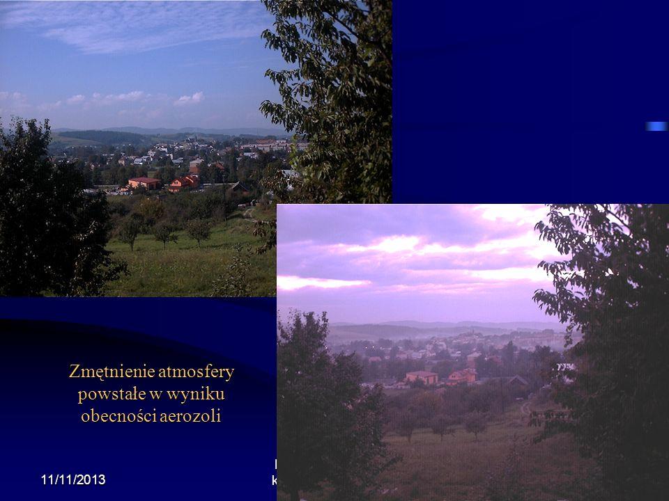 Zmętnienie atmosfery powstałe w wyniku obecności aerozoli
