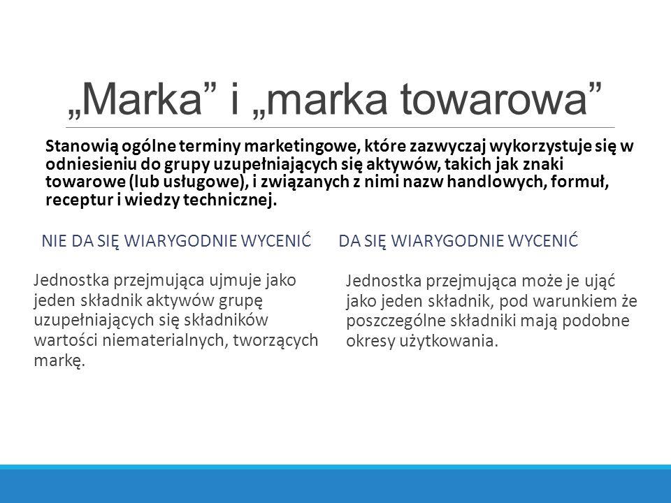 """""""Marka i """"marka towarowa"""