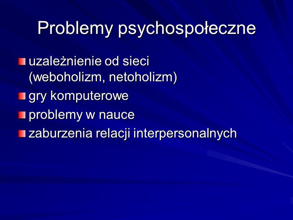Problemy psychospołeczne