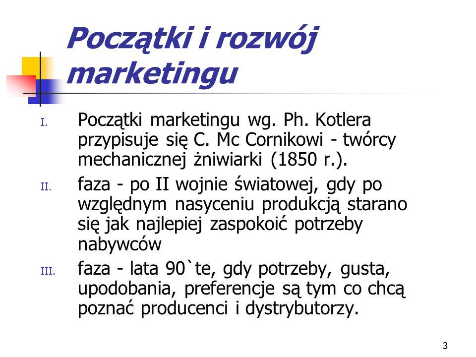 Początki i rozwój marketingu