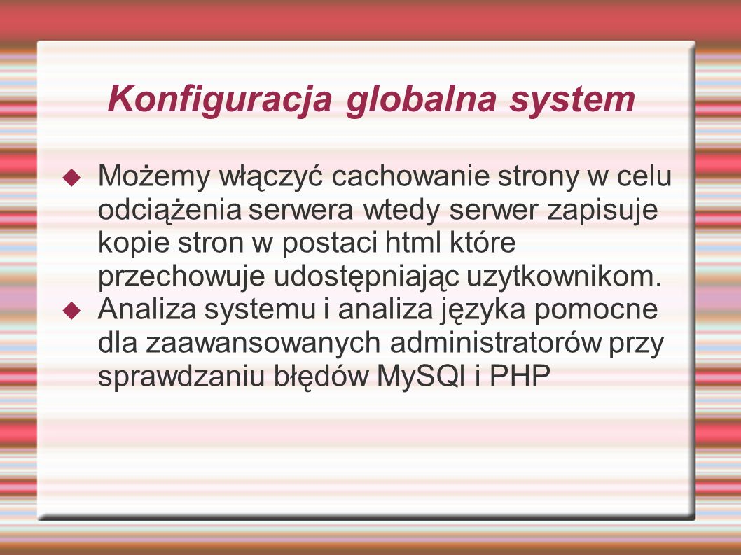Konfiguracja globalna system