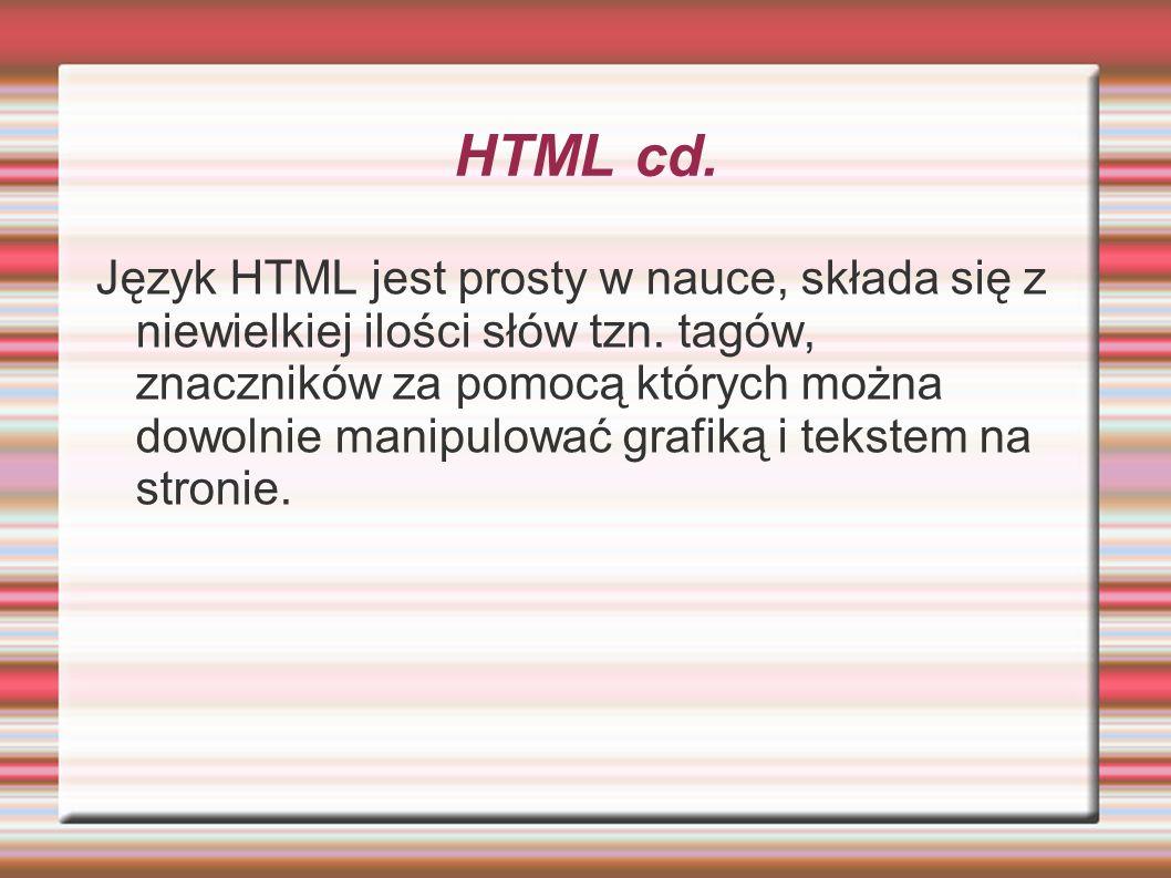 HTML cd.