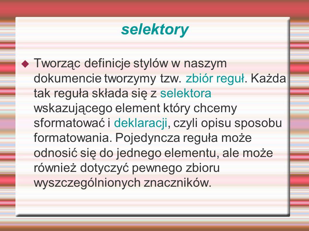 selektory