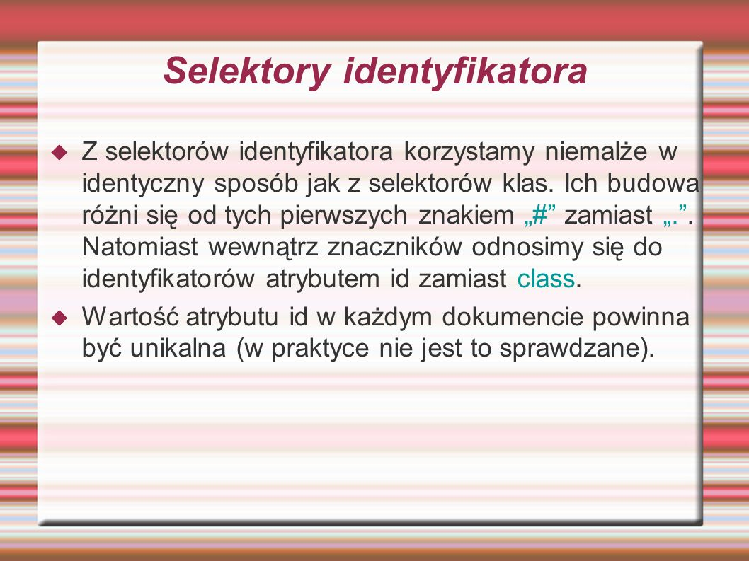 Selektory identyfikatora