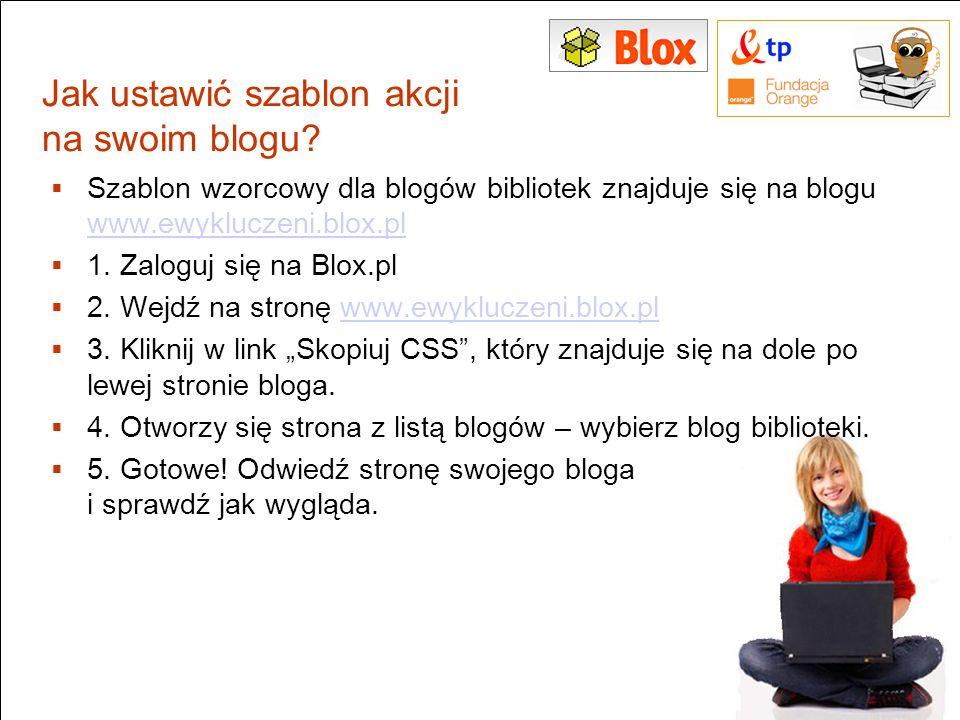 Jak ustawić szablon akcji na swoim blogu