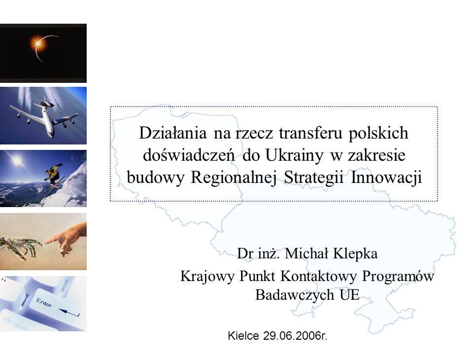 Dr inż. Michał Klepka Krajowy Punkt Kontaktowy Programów Badawczych UE