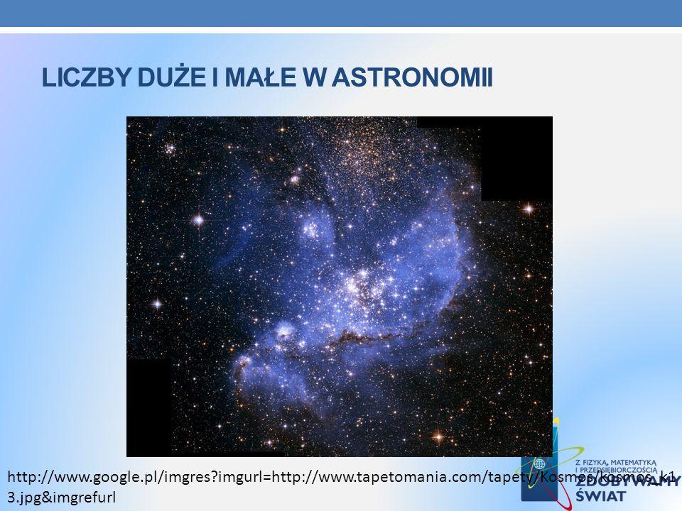 Liczby duże i małe w astronomii
