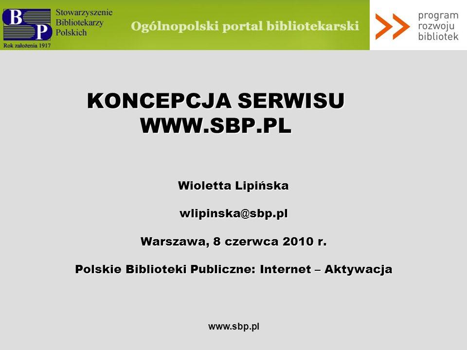 KONCEPCJA SERWISU WWW.SBP.PL