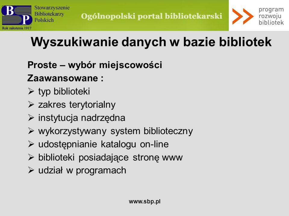 Wyszukiwanie danych w bazie bibliotek