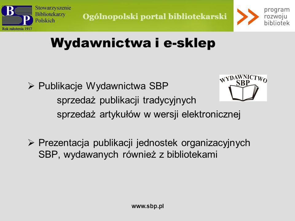 Wydawnictwa i e-sklep Publikacje Wydawnictwa SBP