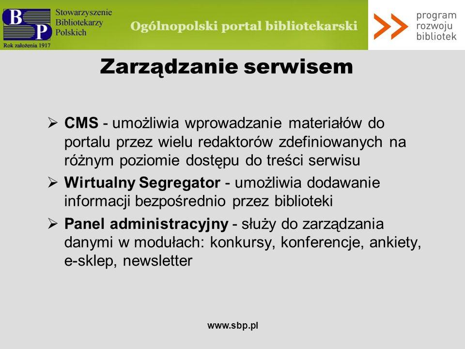 Zarządzanie serwisem