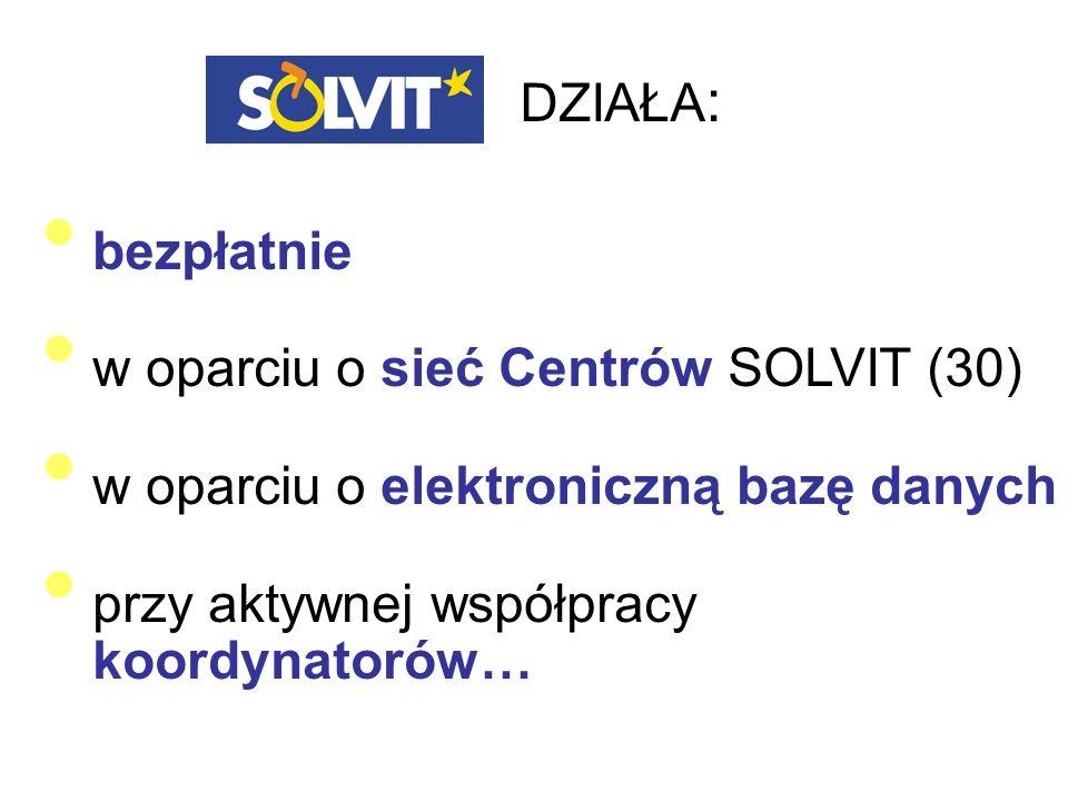 DZIAŁA: bezpłatnie w oparciu o sieć Centrów SOLVIT (30)