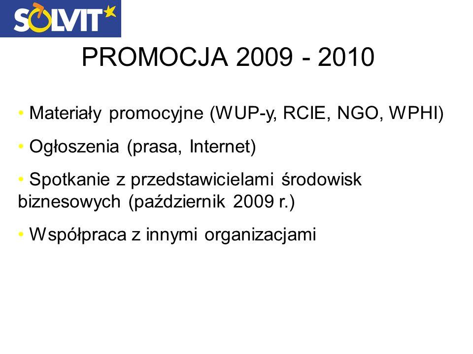 PROMOCJA 2009 - 2010 Materiały promocyjne (WUP-y, RCIE, NGO, WPHI)