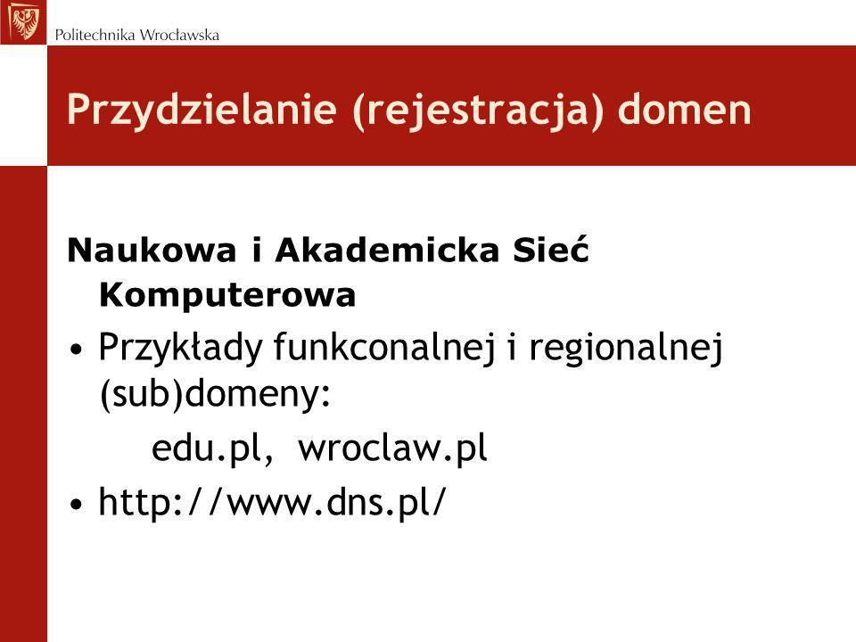Przydzielanie (rejestracja) domen