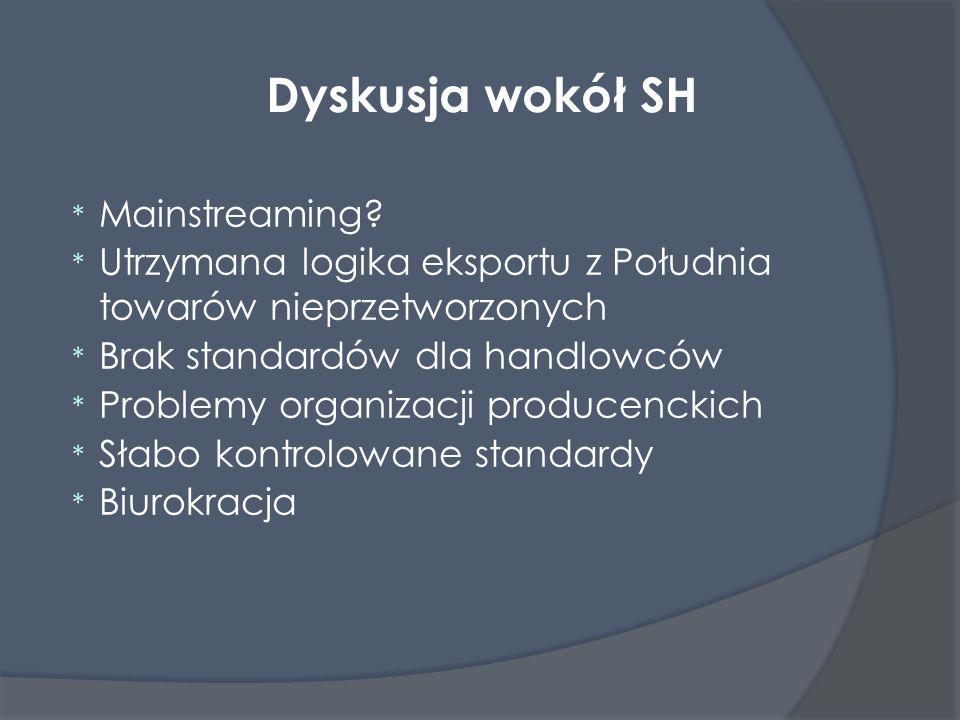 Dyskusja wokół SH Mainstreaming