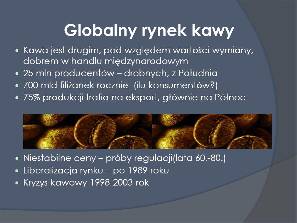 Globalny rynek kawy Kawa jest drugim, pod względem wartości wymiany, dobrem w handlu międzynarodowym.