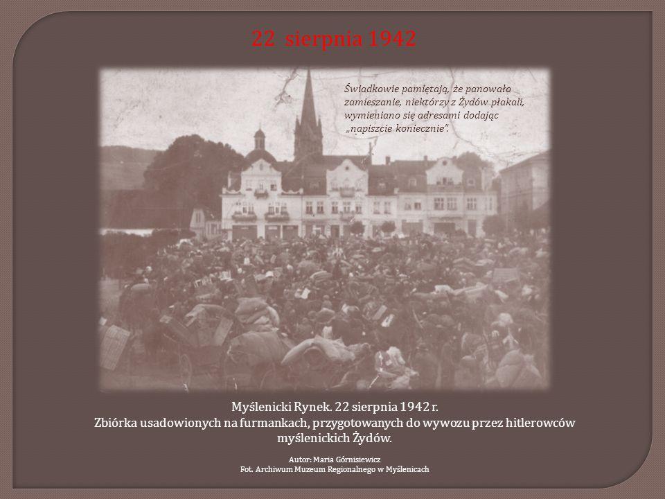 22 sierpnia 1942 Myślenicki Rynek. 22 sierpnia 1942 r.