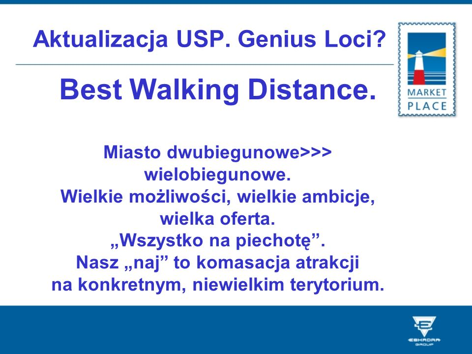 Aktualizacja USP. Genius Loci