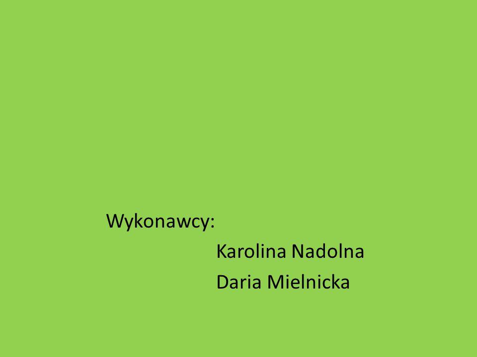 Wykonawcy: Karolina Nadolna Daria Mielnicka