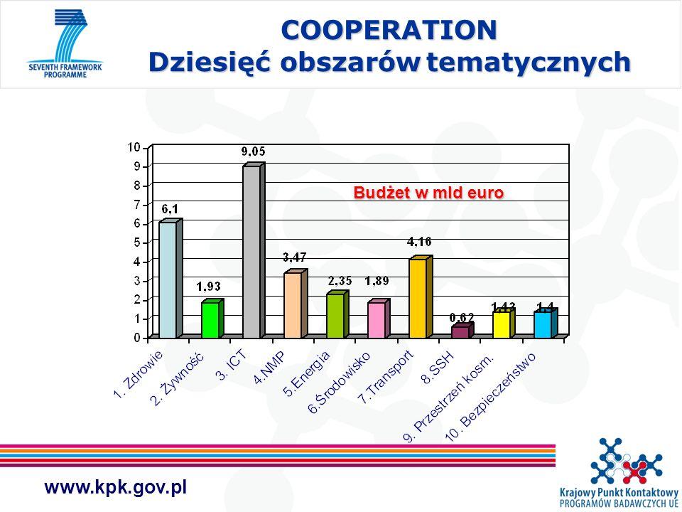 COOPERATION Dziesięć obszarów tematycznych