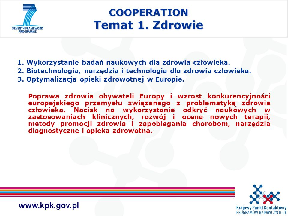 COOPERATION Temat 1. Zdrowie