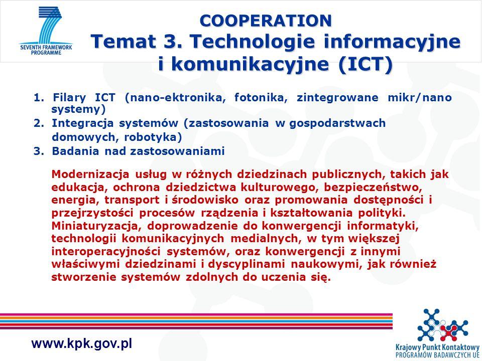 COOPERATION Temat 3. Technologie informacyjne i komunikacyjne (ICT)