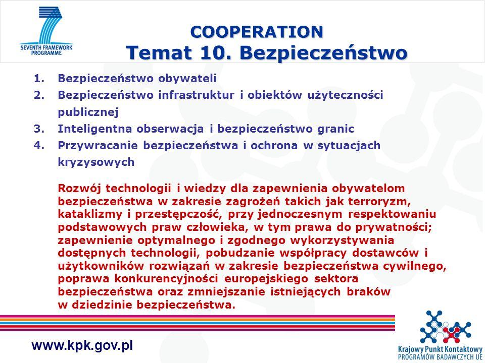 COOPERATION Temat 10. Bezpieczeństwo