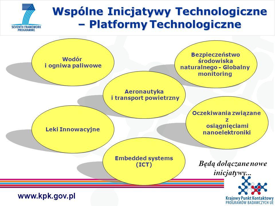 Wspólne Inicjatywy Technologiczne – Platformy Technologiczne
