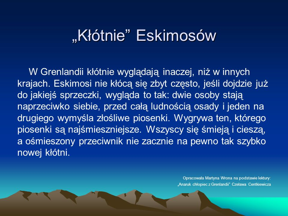 """Kłótnie Eskimosów"
