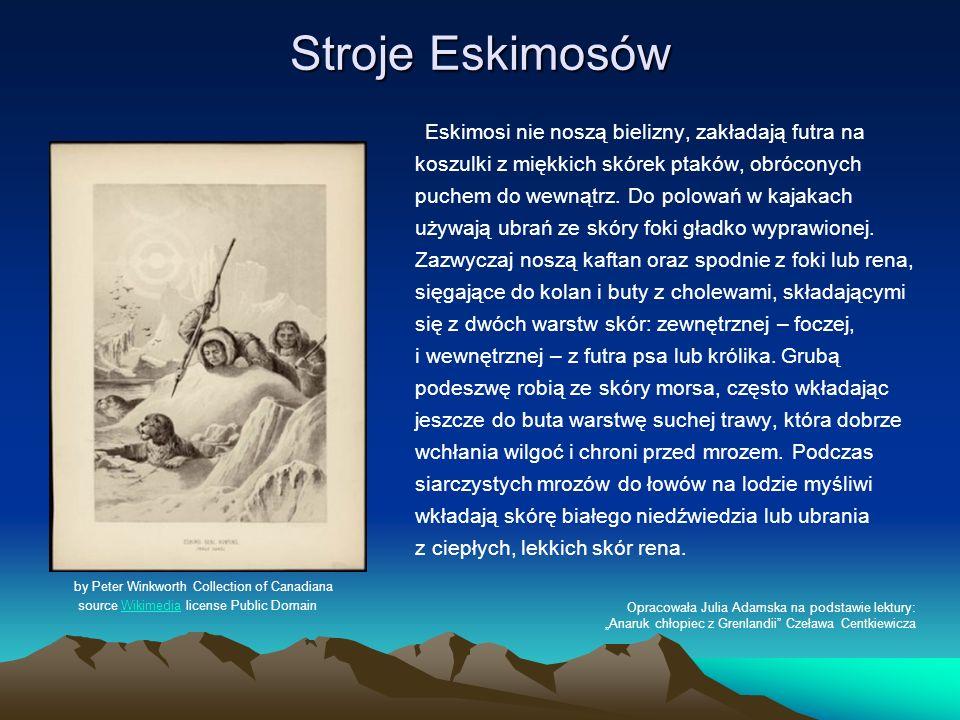 Stroje Eskimosów
