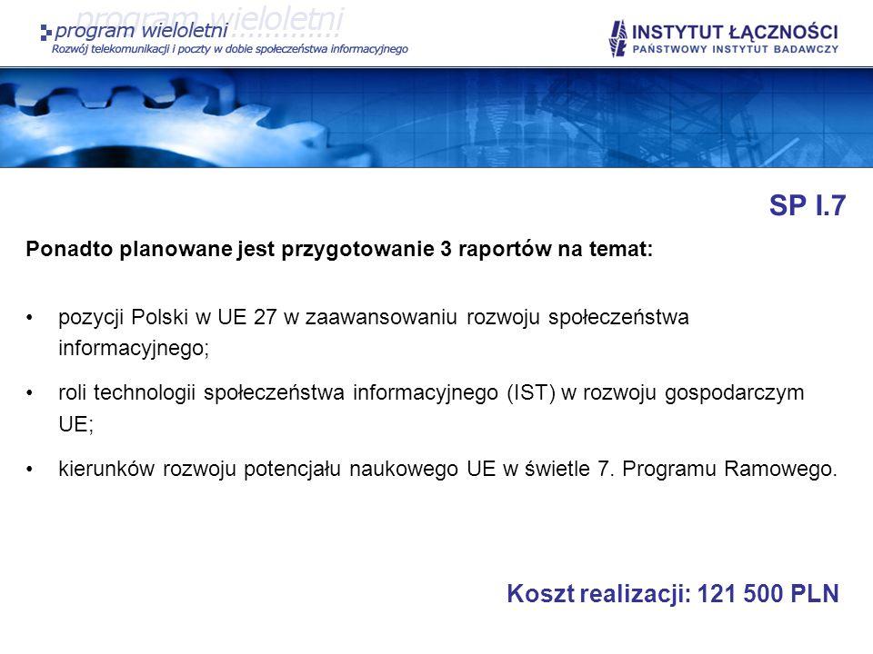 SP I.7 Koszt realizacji: 121 500 PLN
