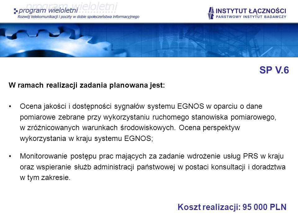 SP V.6 Koszt realizacji: 95 000 PLN
