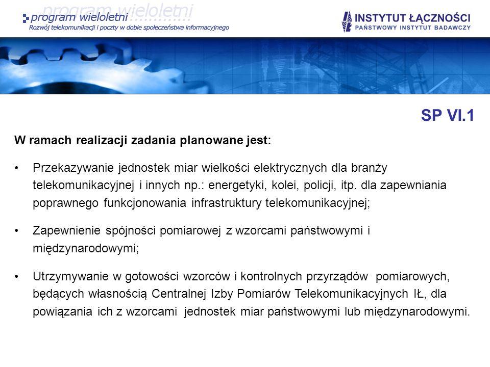 SP VI.1 W ramach realizacji zadania planowane jest: