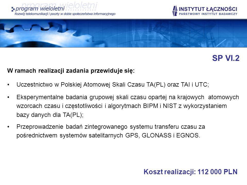 SP VI.2 Koszt realizacji: 112 000 PLN