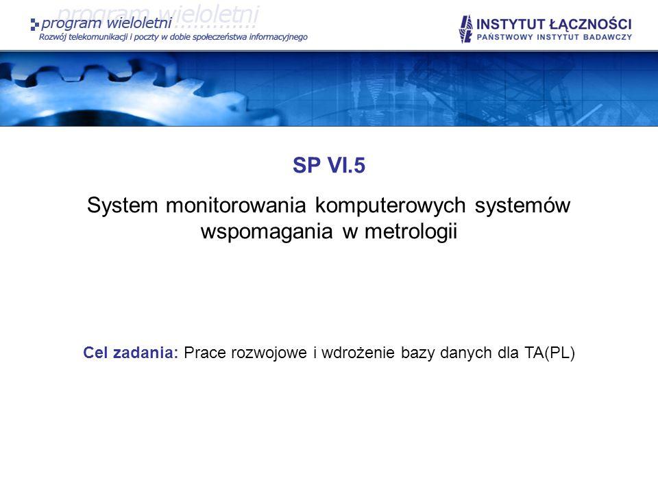 System monitorowania komputerowych systemów wspomagania w metrologii