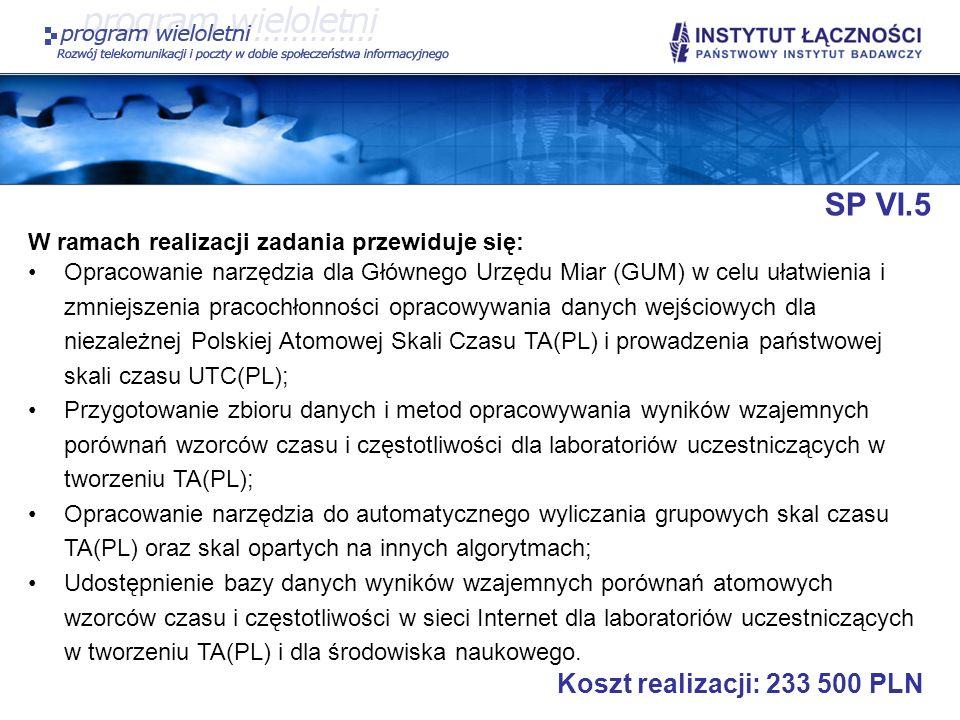 SP VI.5 Koszt realizacji: 233 500 PLN