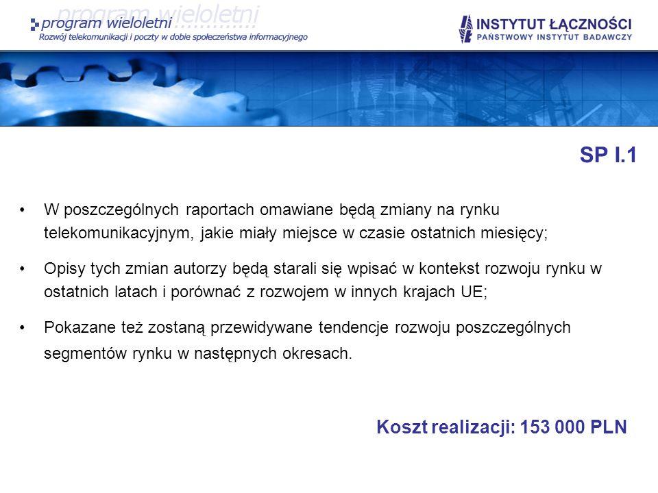 SP I.1 Koszt realizacji: 153 000 PLN