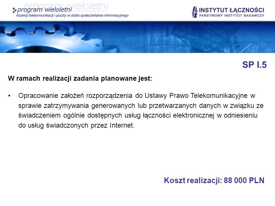 SP I.5 Koszt realizacji: 88 000 PLN