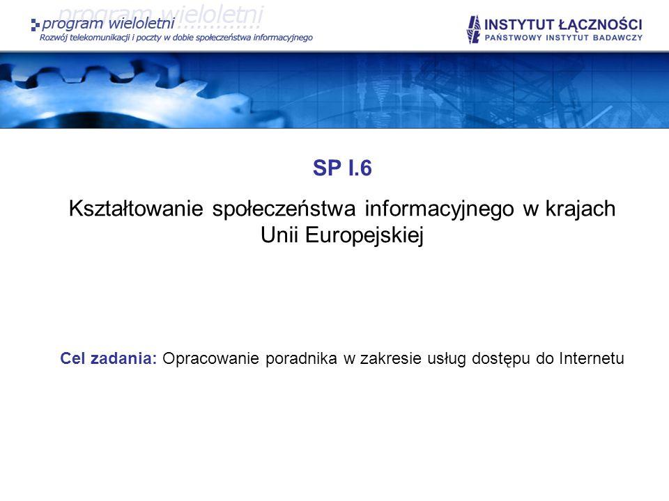 Kształtowanie społeczeństwa informacyjnego w krajach Unii Europejskiej