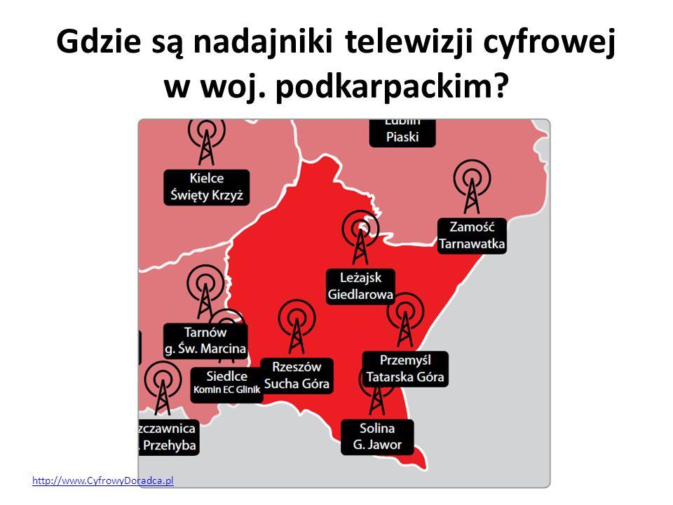 Gdzie są nadajniki telewizji cyfrowej w woj. podkarpackim