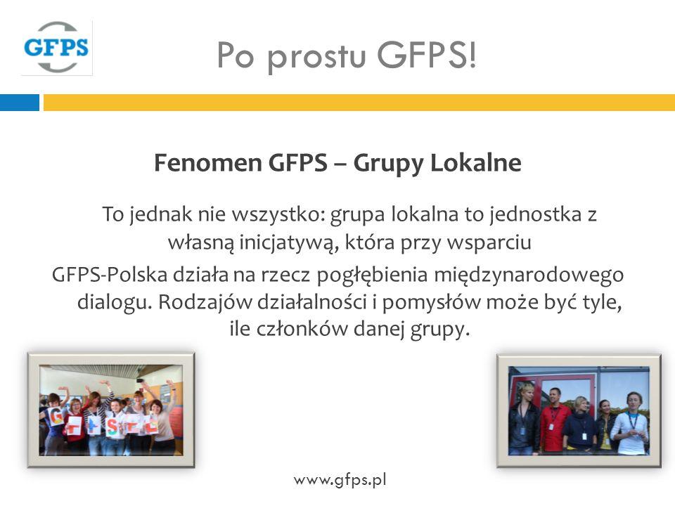 Fenomen GFPS – Grupy Lokalne