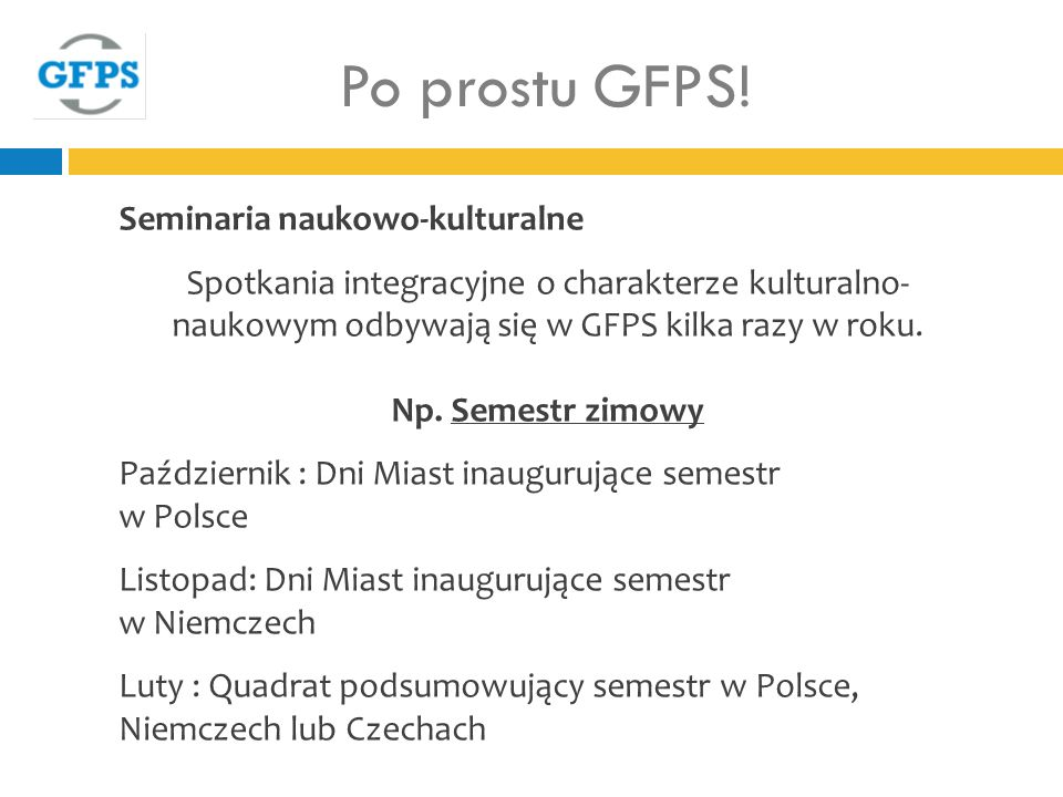 Po prostu GFPS! Seminaria naukowo-kulturalne