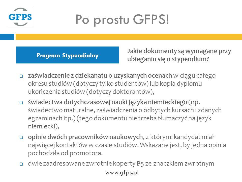 Po prostu GFPS! Program Stypendialny. Jakie dokumenty są wymagane przy ubieganiu się o stypendium