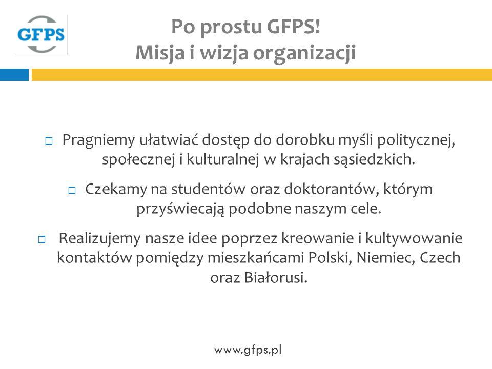 Po prostu GFPS! Misja i wizja organizacji
