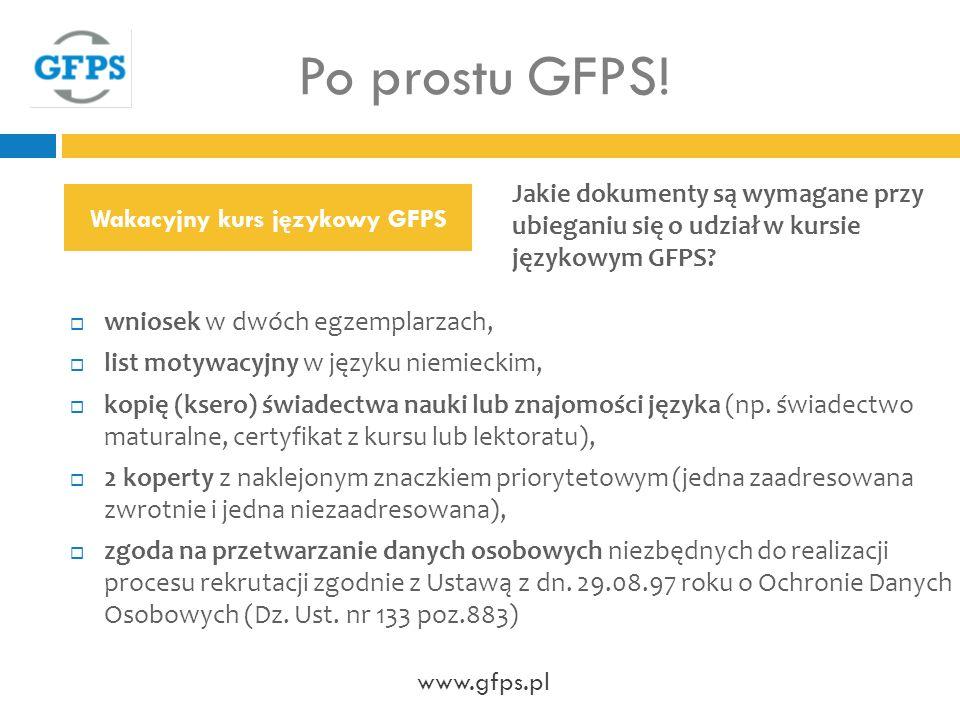 Wakacyjny kurs językowy GFPS